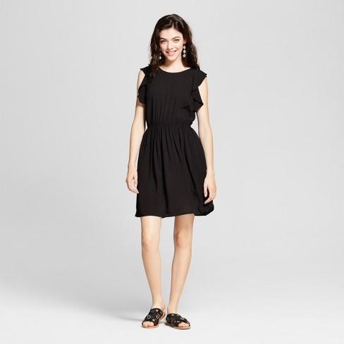 Womens Border Print Ruffle Short Dress Xhilaration Juniors