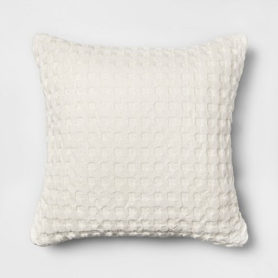 Waffle Square Throw Pillow White - Threshold™