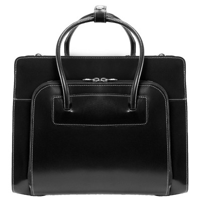 "McKlein Lake Forest 15"" Leather Ladies' Laptop Briefcase (Black)"