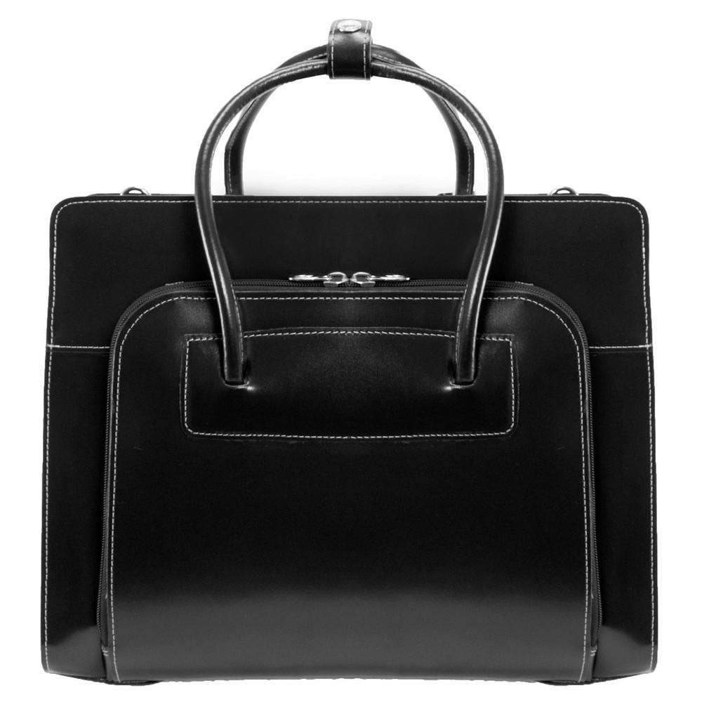 Mcklein Lake Forest 15 Leather Ladies Laptop Briefcase Black