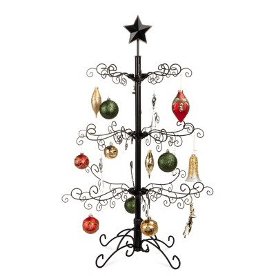 Best Choice Products 3ft Wrought Iron Ornament Display Christmas Tree w/ Easy Assembly, Stand