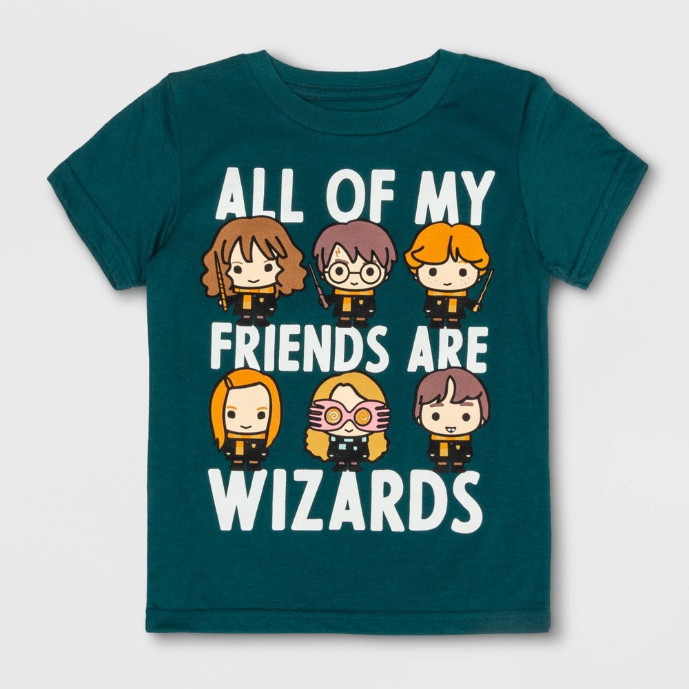 Toddler Boys' Harry Potter Short Sleeve T-Shirt - Green 12M