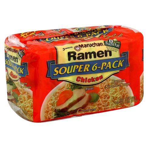 Maruchan® Ramen Noodle Soup Chicken - 6pk - image 1 of 1
