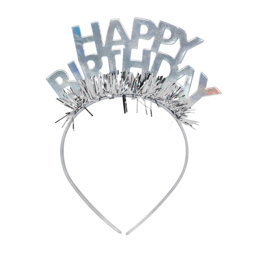 Image of GOH Headband Party Tiara Light Silver - Spritz