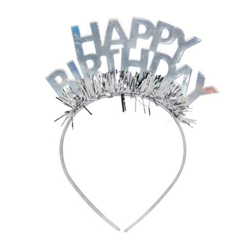 GOH Headband Party Tiara Light Silver - Spritz™ - image 1 of 3