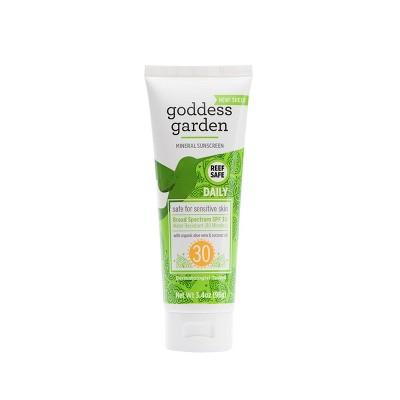 Goddess Garden Natural Daily Sunscreen Tube - SPF 30 - 3.4oz