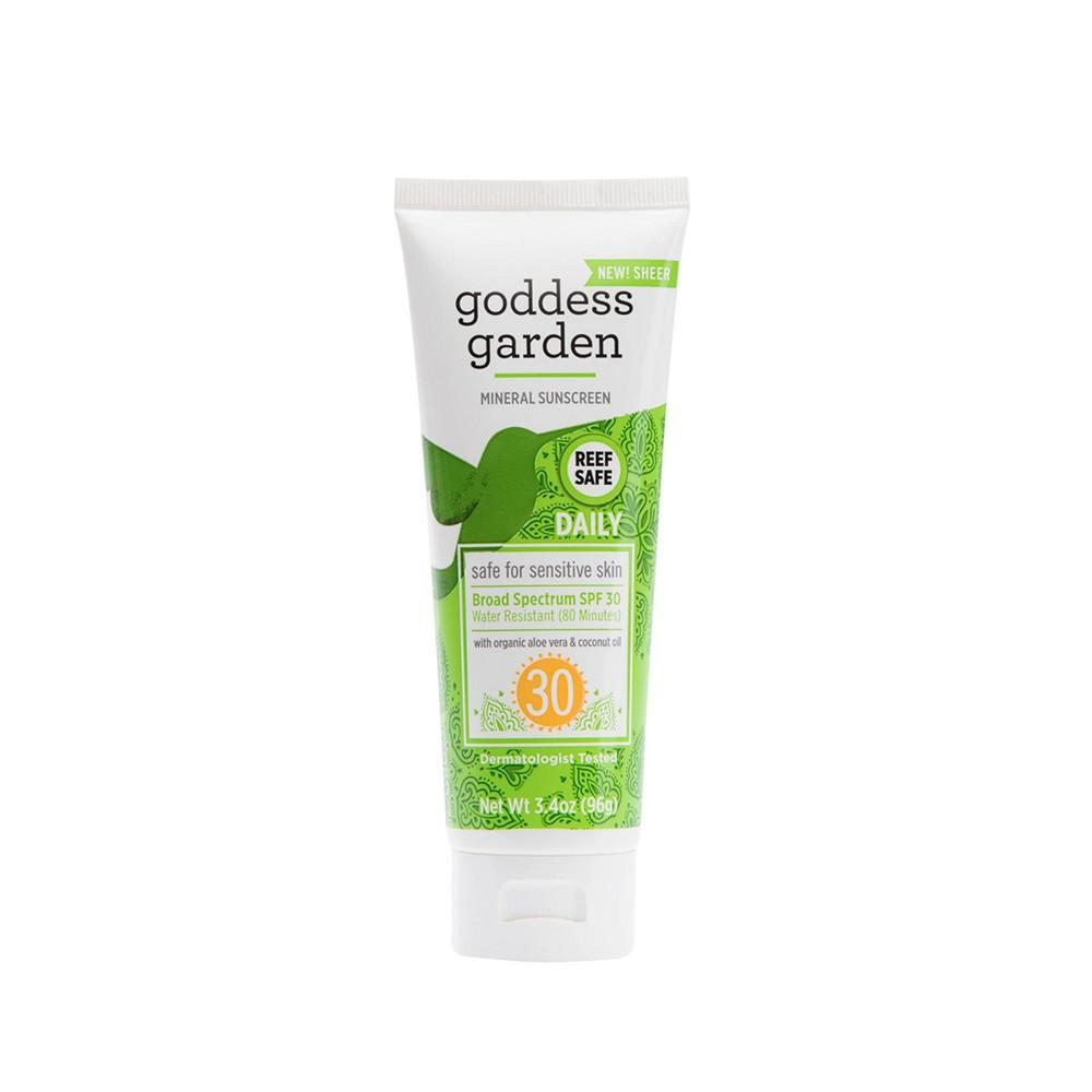 Image of Goddess Garden Natural Daily Sunscreen Tube - SPF 30 - 3.4oz