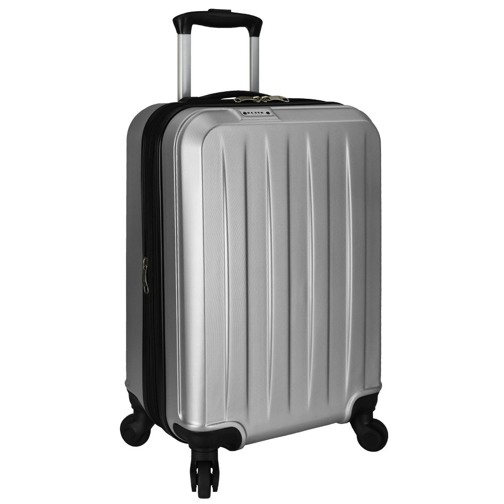 "Image of ""Elite Luggage 21"""" Dori Expandable Spinner Suitcase - Silver"""