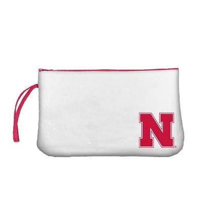 NCAA Nebraska Cornhuskers Clear Zip Closure Wristlet