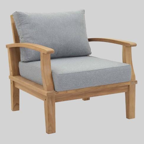 Marina Outdoor Patio Teak Armchair In, Modway Outdoor Furniture