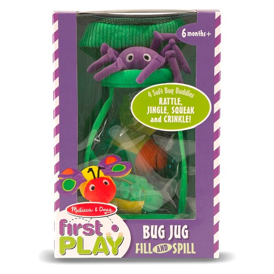 Melissa & Doug Deluxe Bug Jug Fill and Spill Soft Baby Toy image number null