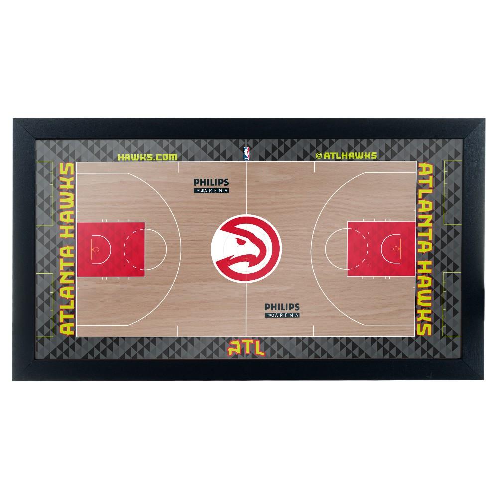 NBA Atlanta Hawks Team Court Framed Plaque