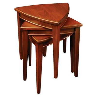 Exceptionnel Shield Stacking Corner Table Set   Glazed Auburn   Leick Furniture