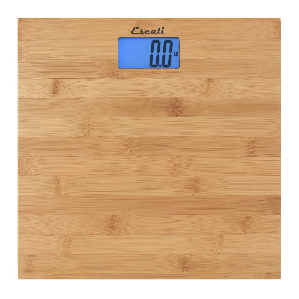 """Image of """"Bamboo Personal Scale 11.75""""""""x11.75"""""""" - Escali, Clear"""""""