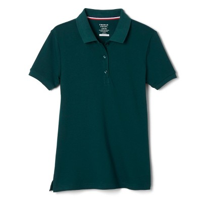 French Toast Young Womans' Uniform Short Sleeve Pique Polo Shirt - Green