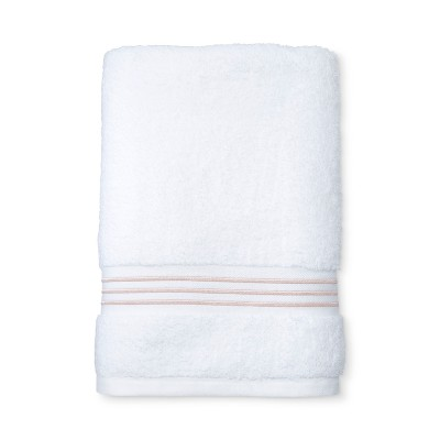 Spa Stripe Accent Bath Towel Peach - Fieldcrest®