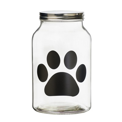 Amici Pet Buddy Paw Glass Canister, Large, 140oz
