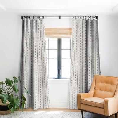 Holli Zollinger FRENCH LINEN STRIPE Single Panel Blackout Window Curtain - Deny Designs