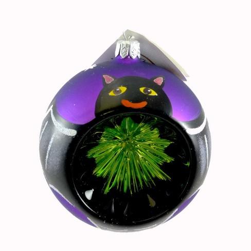 Laved Italian Ornaments Bat Purple Ball Halloween Reflector - image 1 of 2
