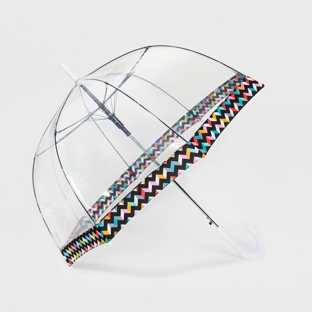 ShedRain Bubble Umbrella - Clear Chevron Border