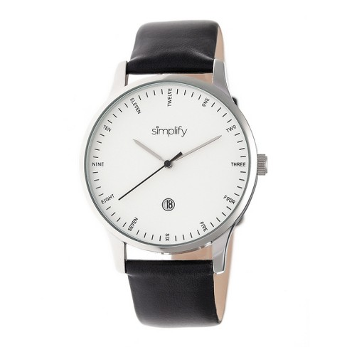 Men's Simplify The 4300 Leather-Band Watch with Date - image 1 of 3