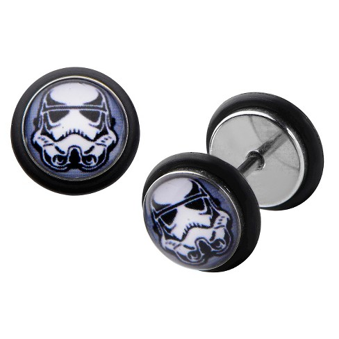 Star Wars Stormtrooper Helmet Graphic Stainless Steel Screw Back Earrings - image 1 of 1