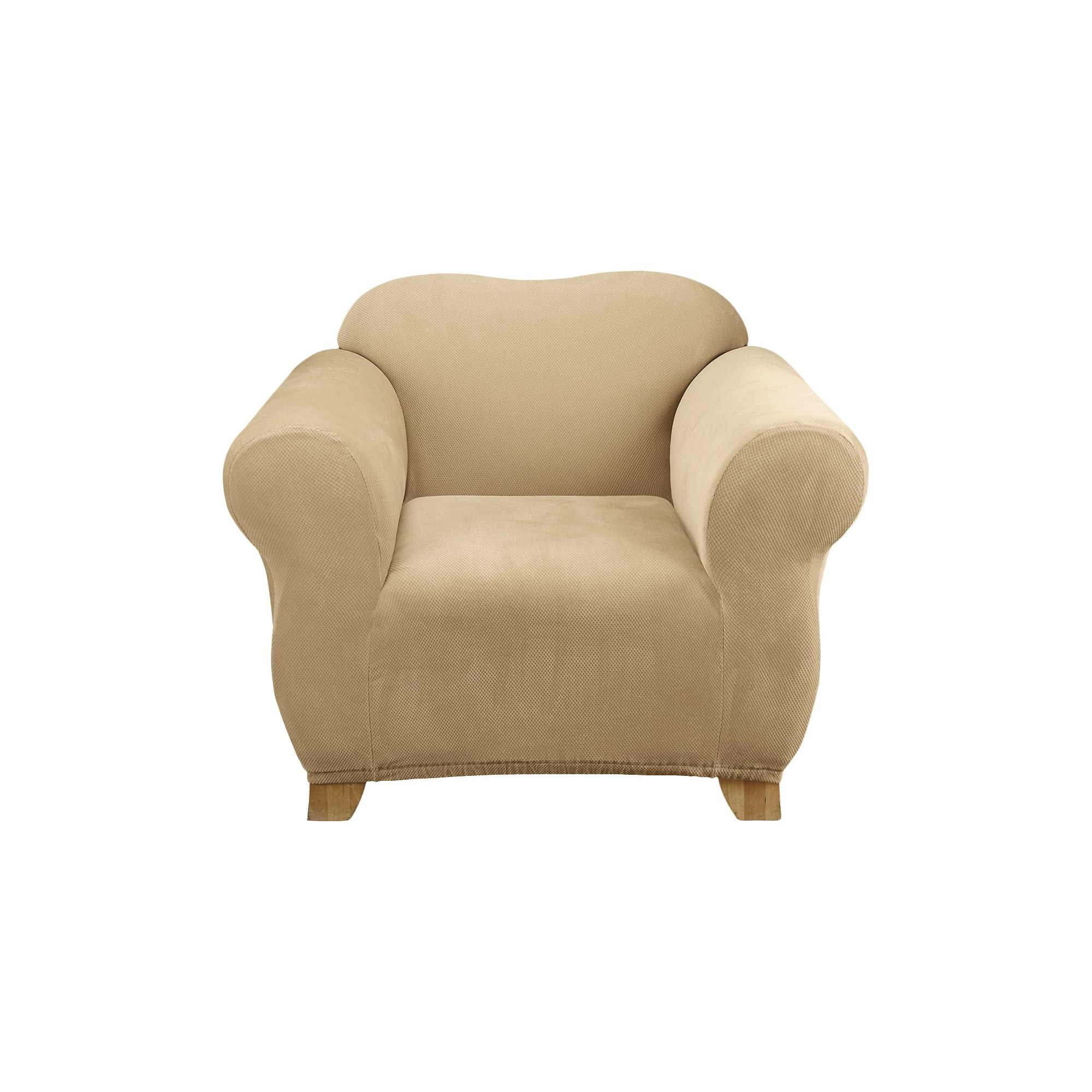 Stretch Pique Chair Slipcover Cream - Sure Fit, Ivory