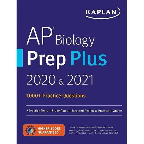 AP Biology Prep Plus 2020 & 2021 - (Kaplan Test Prep) (Paperback) - image 1 of 1
