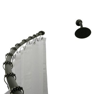 Curved Shower Rod Bronze - Kingston Brass