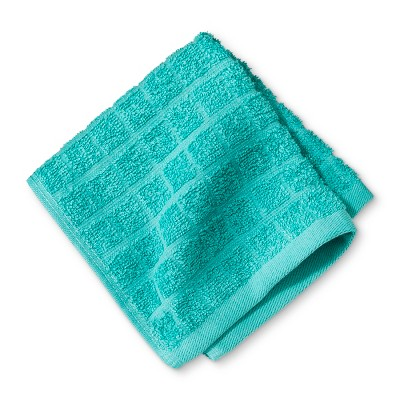 Grid Texture Washcloth Turquoise - Room Essentials™