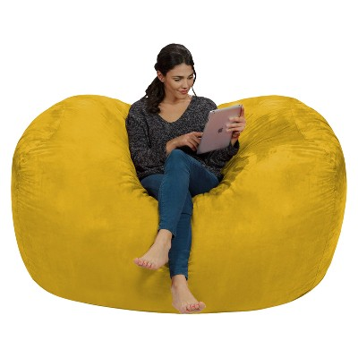 6' Large Bean Bag Lounger with Memory Foam Filling and Washable Cover - Relax Sacks