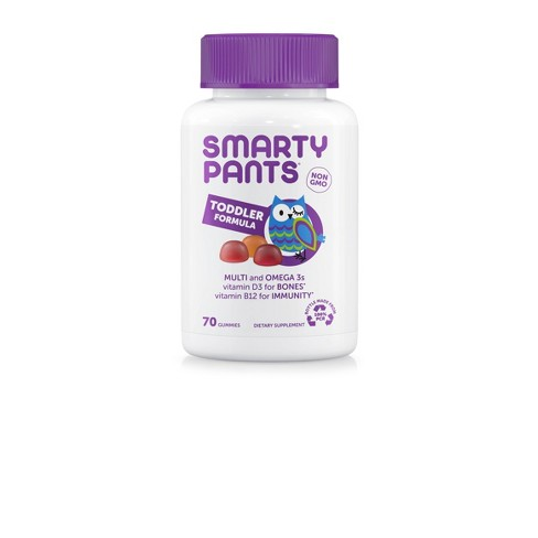 SmartyPants Toddler Formula Multivitamin Gummies - Grape, Blueberry, & Orange - 70ct - image 1 of 4