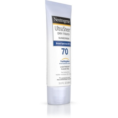 Neutrogena Ultra Sheer Dry- Broad Spectrum Touch Sunscreen - SPF 70 - 3oz