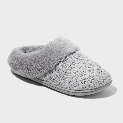 Women's dluxe by dearfoams® Carol Knit Scuff Slippers - Gray XL