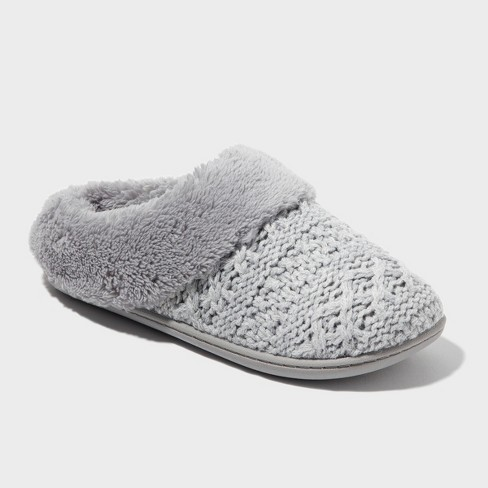 Women's dluxe by dearfoams® Carol Knit Scuff Slippers - image 1 of 4