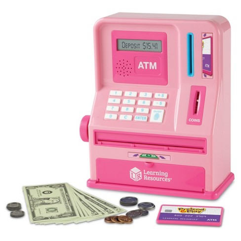 Learning Resources Pretend & Play Teaching ATM Bank - Pink - image 1 of 7