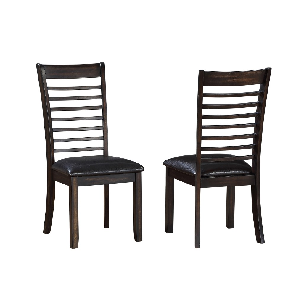 18 Contemporary Ally Dining Side Chair Set of 2 Espresso (Brown) - Steve Silver