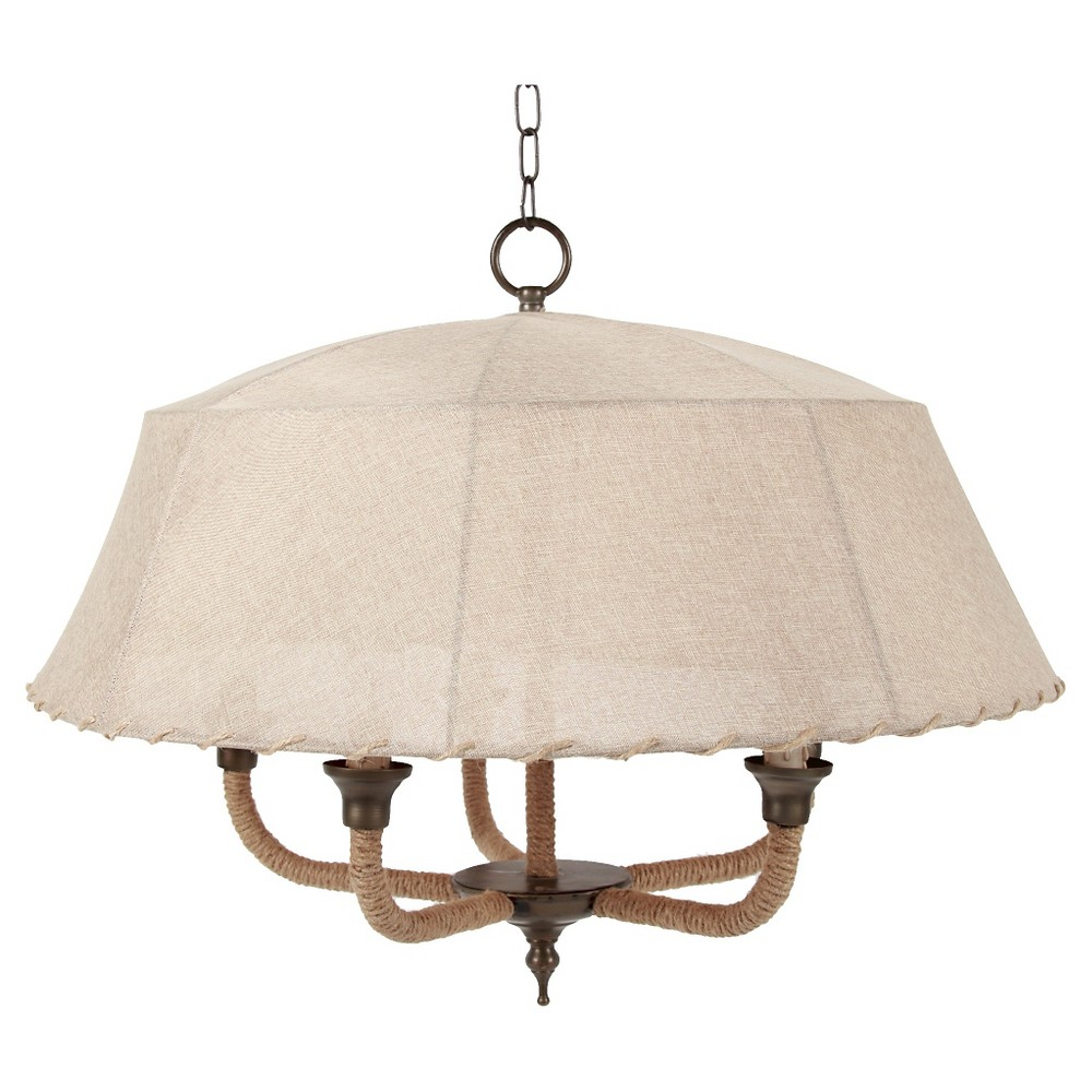 A&b Home Canopy Pendant Lamp - Beige, Buff Beige