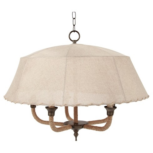 A&B Home Canopy Pendant Lamp - Beige - image 1 of 1