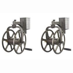 Liberty Garden Single Arm Navigator Rotating Hose Reel & Storage Bin (2 Pack)