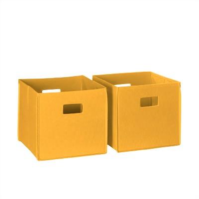 RiverRidge® 2pc Folding Storage Bin Set - Golden Yellow
