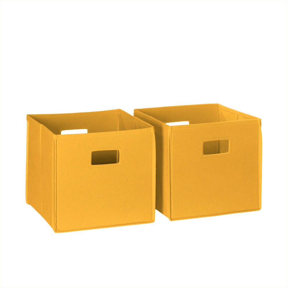 Image of ]2pc Folding Toy Storage Bin Set Golden Yellow - RiverRidge