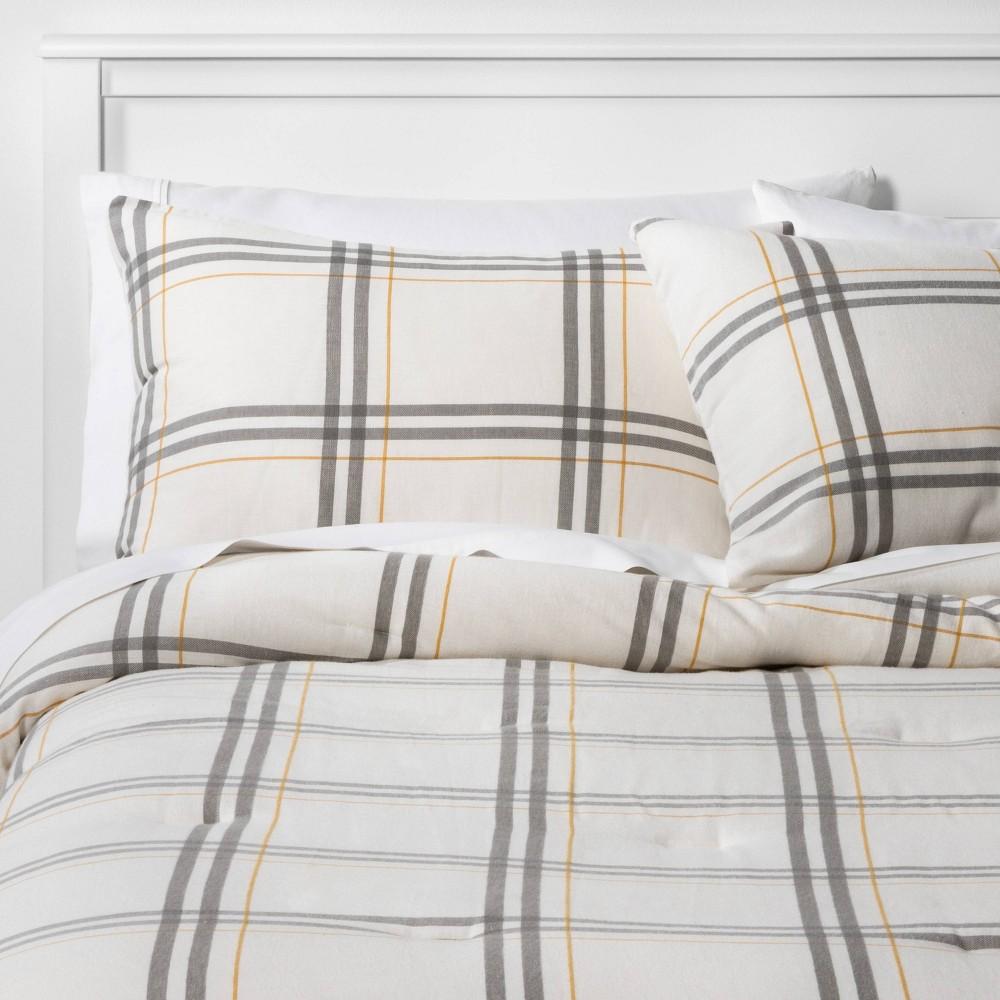 Best Twin/Twin XL Flannel Plaid Comforter & Sham Set  - Threshold™