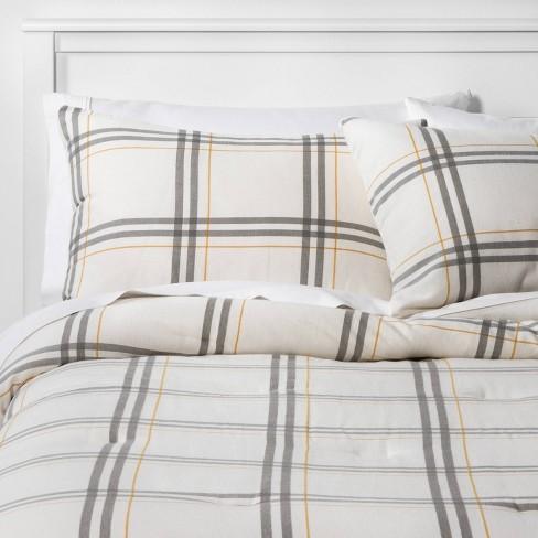 Flannel Plaid Comforter Sham Set, Target Gray Bedding Sets