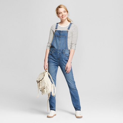 4a81d81d0f7 Women s Skinny Release Hem Overalls - Mossimo Supply Co.™ Dark Wash
