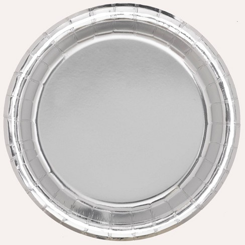 "8.5"" 20ct Disposable Dinner Plates Silver - Spritz™ - image 1 of 1"