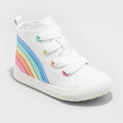 Toddler Girls' Zena Zipper Apparel Sneakers - Cat & Jack™ White