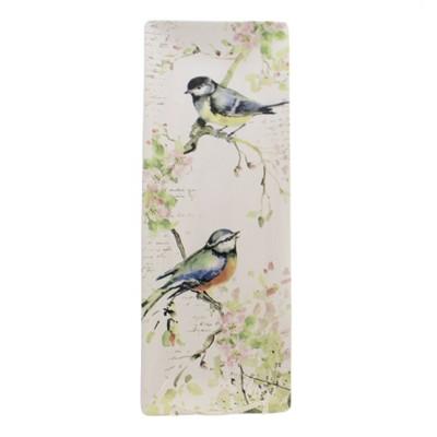 "Tabletop 15.75"" Spring Meadows Platter. Rectangular Birds Floral Certified International  -  Serving Platters"