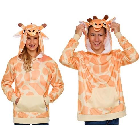 Funziez! Giraffe Men's Hooded Sweatshirt - image 1 of 4