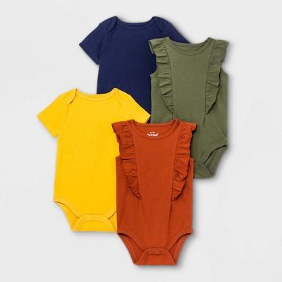 Baby Girls' Short Sleeve Bodysuit - Cat & Jack™ Navy 0-3M